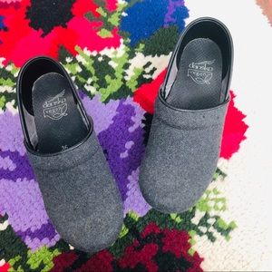 Dansko Gray Vegan Slip-On Clogs